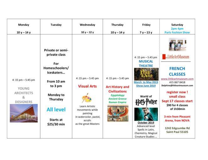 english schedule Littleartmuseum 20181